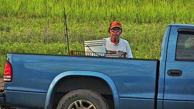Character Study Photograph - Serious Fishing by Laura Ragland
