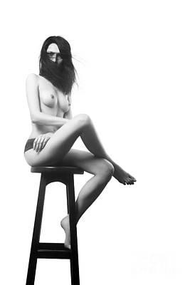 Nude Fashion Girl Woman Naked Nude Photograph - Serious Topless Girl by Aleksey Tugolukov