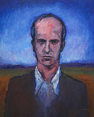 Painting - Serious Young Man 1977 by Lutz Baar