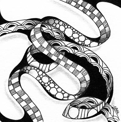 Drawing - Serpent Ribbon by Jan Steinle