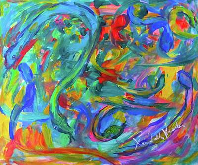 Painting - Serpent Swirl by Kendall Kessler
