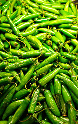 Photograph - Serrano Peppers by Robert Meyers-Lussier