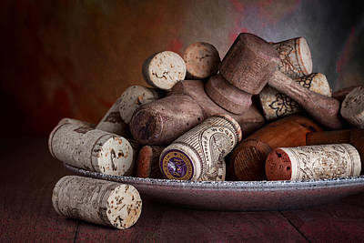 Plates Photograph - Served - Wine Taps And Corks by Tom Mc Nemar