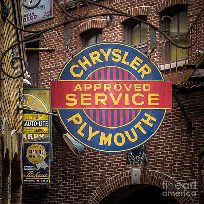 Service Sign Art Print by Perry Webster