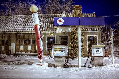 Photograph - Service Station Closed by John December