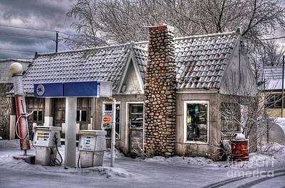Photograph - Service Station by John December
