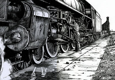 Servicing Engine No.620  Original by Andrew Leck