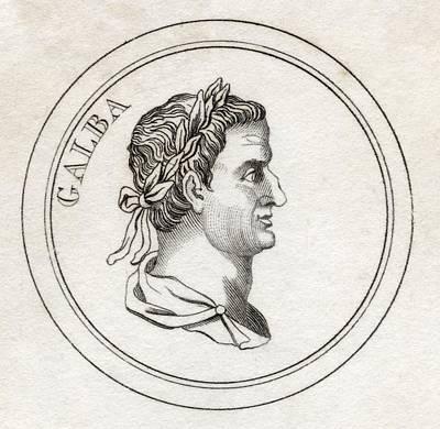 Caesar Augustus Drawing - Servius Sulpicius Galba 3bc   69bc Aka by Vintage Design Pics