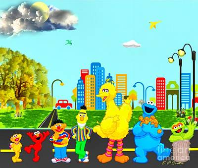 Sesame Street Art Print