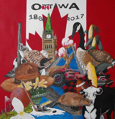 Sesquicentennial Ottawa Art Print by Susan Bruner