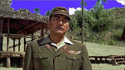 Ethereal - Sessue Hayakawa as Colonel Saito publicity photo The Bridge on the River Kwai 1957 by David Lee Guss