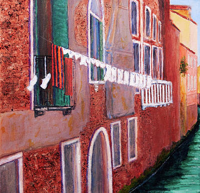 Painting - Sestieri Castello Left Panel by Patricia Beebe