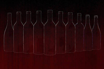 Cabernet Digital Art - Set Of Ten by Art Spectrum