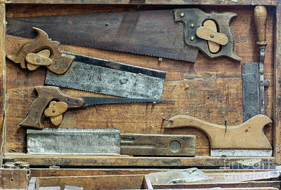 Handsaw Photograph - Set Of Various Hand Saws by Michal Boubin
