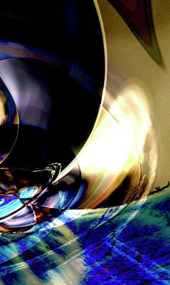 Digital Art - Set Sail In Stormy Waters Under The Moon by Richard Thomas