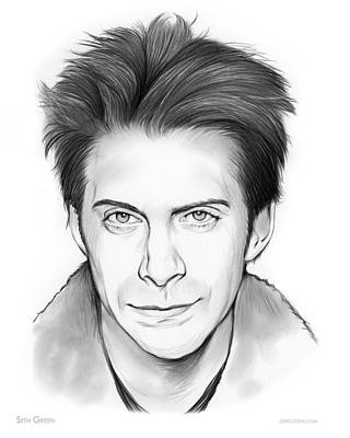 Writer Drawing - Seth Green by Greg Joens