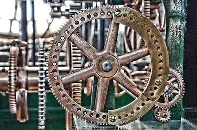 Steampunk Royalty-Free and Rights-Managed Images - Seth Thomas 1911 Clock Mechanism in Bromo Seltzer Tower Baltimore by Marianna Mills