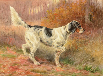 Sniffing Painting - Setter On Point by Edmund Henry Osthaus