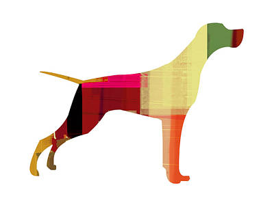 Colorful Dog Wall Art - Painting - Setter Pointer by Naxart Studio