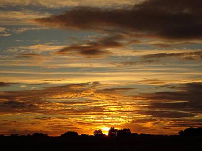 Photograph - Setting Harvest Sun by Susan Baker