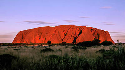 Photograph - Setting Of The Sun - Uluru, Australia by Lexa Harpell