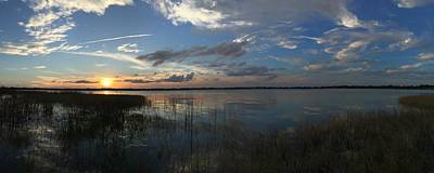 Photograph - Setting Over The Lake by Juan Montalvo
