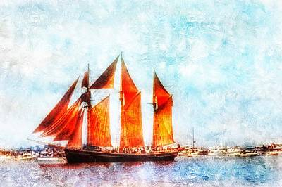 Photograph - Setting Sail In Boston by Anne Sands