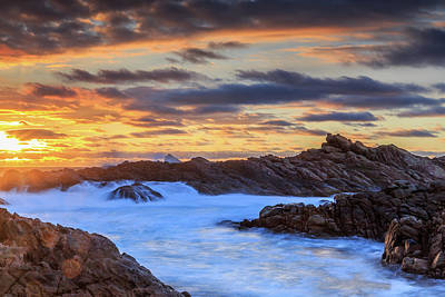 Photograph - Setting Sun At Canal Rocks by Robert Caddy
