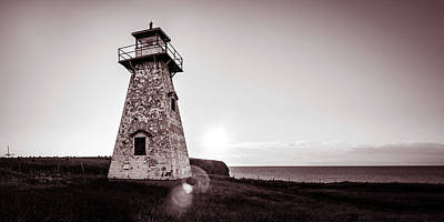 Photograph - Setting Sun At Cape Tryon Lighthouse by Chris Bordeleau