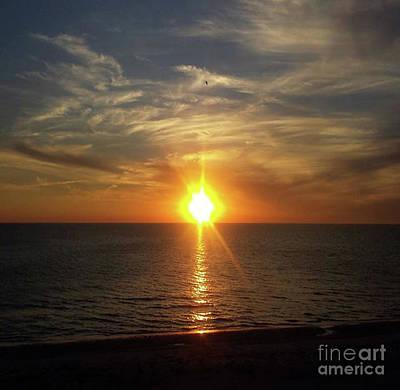 Photograph - Setting Sun At Madeira Beach - Central Florida by Scott D Van Osdol