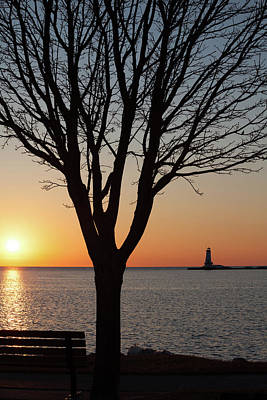 Photograph - Setting Sun On Lake Michigan by Fran Riley