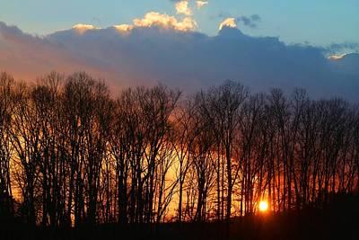 Photograph - Setting Sun by Kathryn Meyer