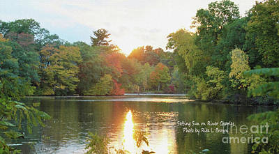 Photograph - Setting Sun On The River Charles by Rita Brown