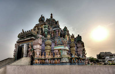 Photograph - Setting Sun Over Ashtalakshmi Temple by John Hoey