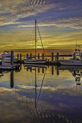 Photograph - Setting Sun Reflections by Paula Porterfield-Izzo