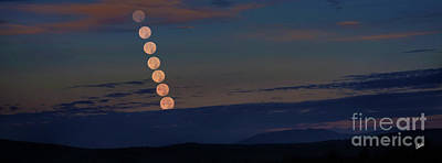 Photograph - Setting Supermoon by Alana Ranney