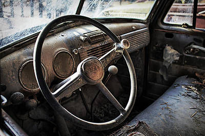 Old Chevy Truck Wall Art - Photograph - Settled by Thomas Zimmerman