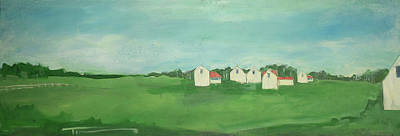 Painting - Settlement by Tim Nyberg