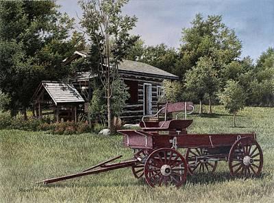 Settlers Village Bobcaygeon Art Print