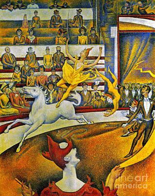 Seurat: Circus, 1891 Art Print by Granger