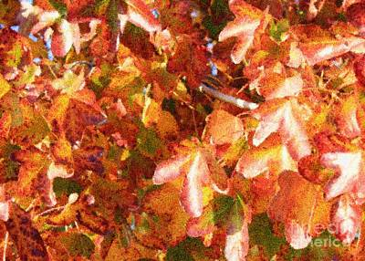 Photograph - Seurat-like Fall Leaves by Carol Groenen