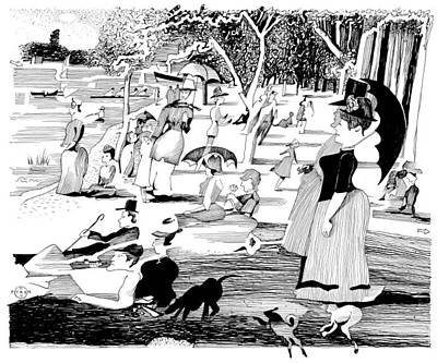 Gary Peterson Print - Seurat Sunday Afternoon Revisited by Gary Peterson