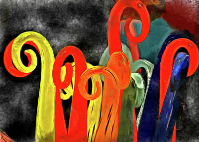 Mixed Media - Seuss' Canes by Trish Tritz