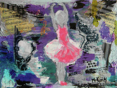 Ballerina Mixed Media - Sevella by Lisa McKinney
