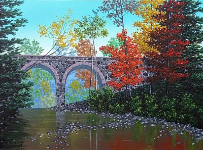 Seven Bridges Road Bridge Five Original by Dan Shefchik