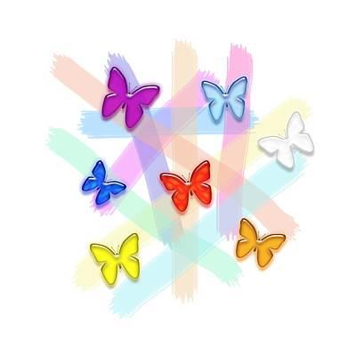 Photograph - Seven Butterflies by Bill Owen
