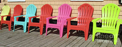 Photograph - Seven Chairs by Randall Weidner