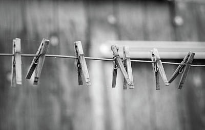 Seven Clothes Pins Art Print