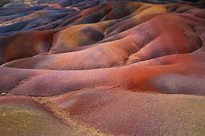 Photograph - Seven Colored Earth In Chamarel 8. Series Earth Bodyscapes. Mauritius by Jenny Rainbow