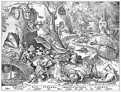 Seven Deadly Sins Photograph - Seven Deadly Sins, 1557 by Granger